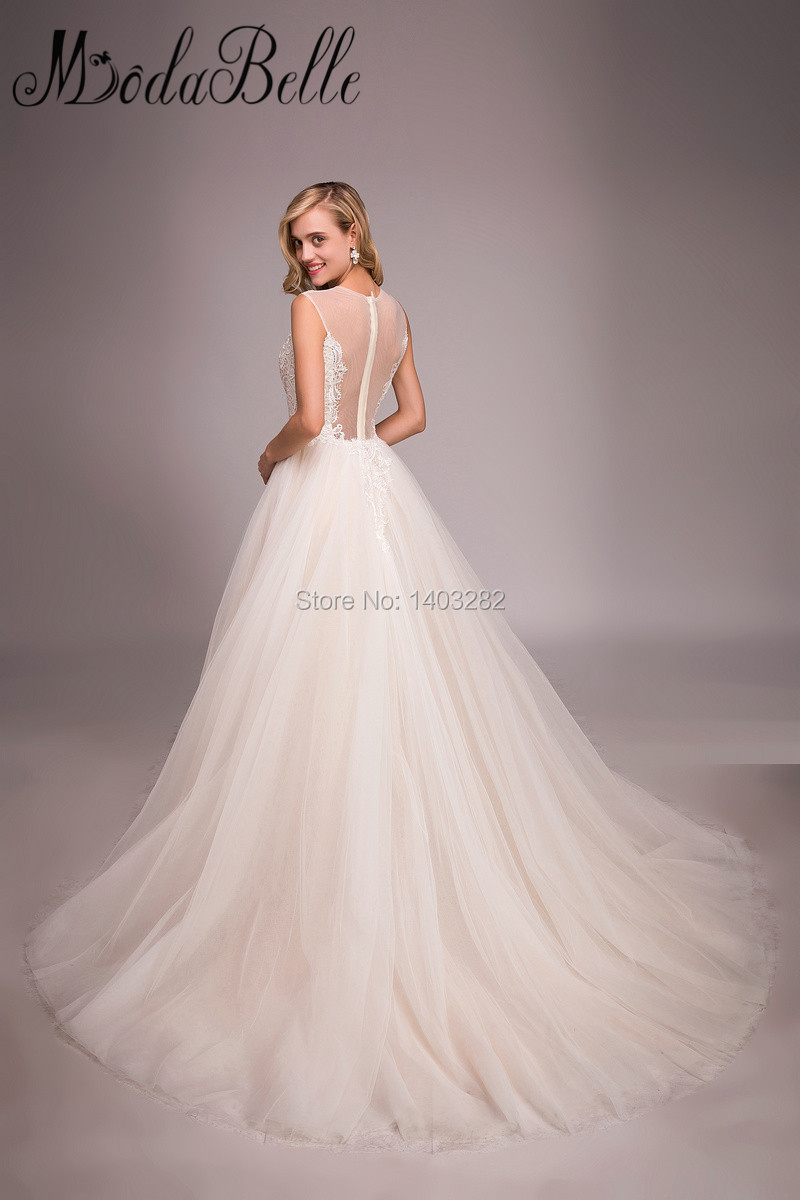 Aliexpress Buy Champagne Detachable Wedding Dress Skirt Lace See Through Tulle Bridal Gowns Beach Dresses 2017 Vestidos Novia From