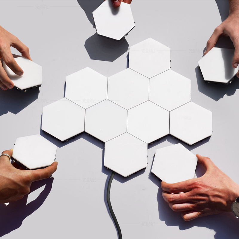 British Creative Honeycomb Modular Assembly Helios Touch Wall Lamp Quantum lamp LED Magnetic Wall Light Bedroom Lamp