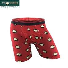 Plus size cotton underpants Boxer Men long leg underwear cueca masculina breatha