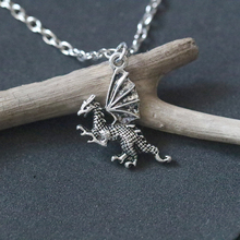 Wings Dragon Pendant Necklace Vintage Antique Silver Pterosaur Handmade Necklaces Fashion Jewelry For Women Holiday gift