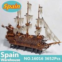 Летающий корабль Нидерландов 16016 3652 шт. MOC сериалы Пираты строительные блоки элементы конструктора игрушки Детский подарок