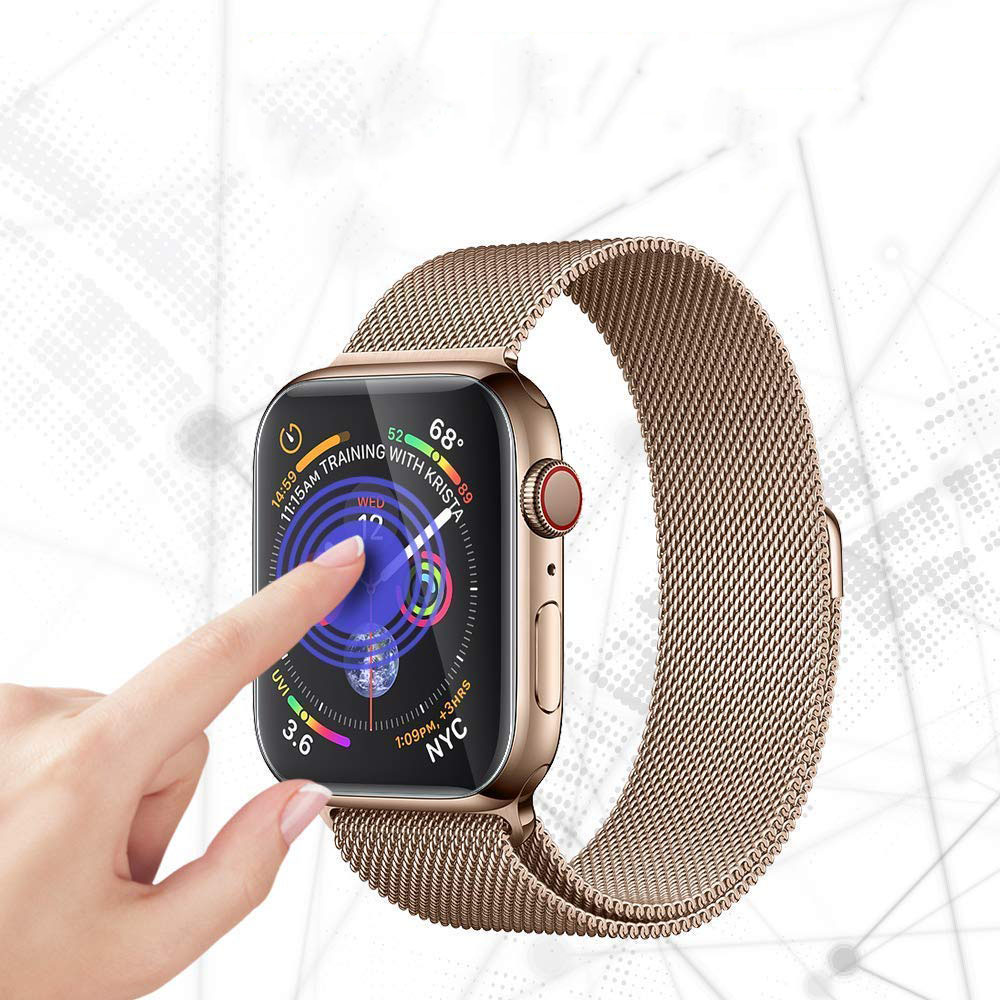 Screen Protector For Apple Watch Series 4 44mm 40mm Iwatch band Soft Film cover 9D Anti-Shock Protective Full Coverage(China)