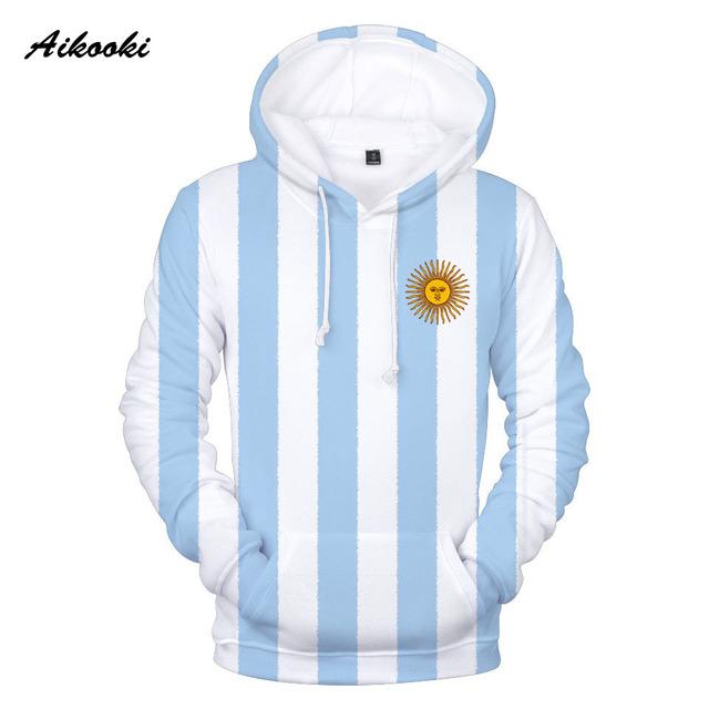 Aikooki 3D National Flag Print Argentina Germany Russia Brazil USA Mexico Hoodie Sweatshirt With Hat Men Women Fashion hoodies
