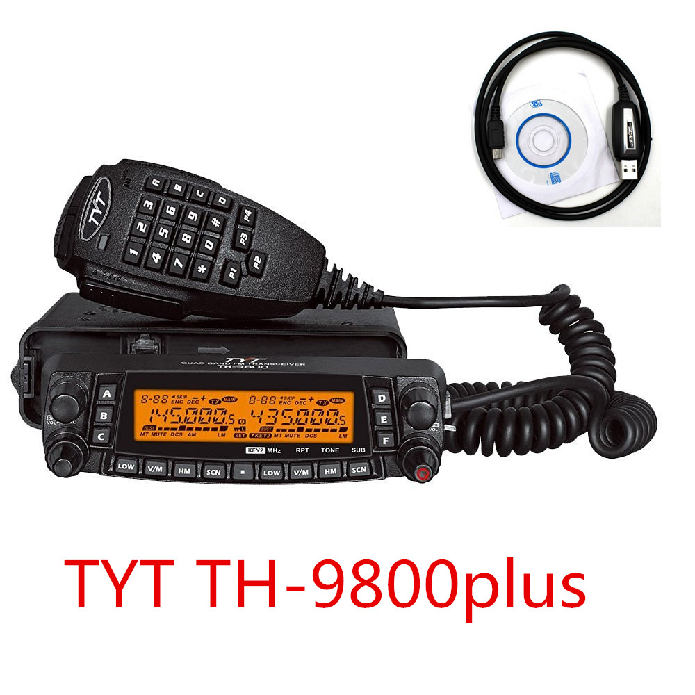 (DHL Shipping) Newest 1806A  TYT TH 9800 Plus (Updated) Quad Band Mobile Radio TH 9800 Car Transceiver TH9800 Walkie Talkie-in Walkie Talkie from Cellphones & Telecommunications    1