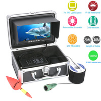 20 30M 1000tvl Underwater Fishing Video Camera Kit 12V DC 6 PCS LED Lights With7 Inch