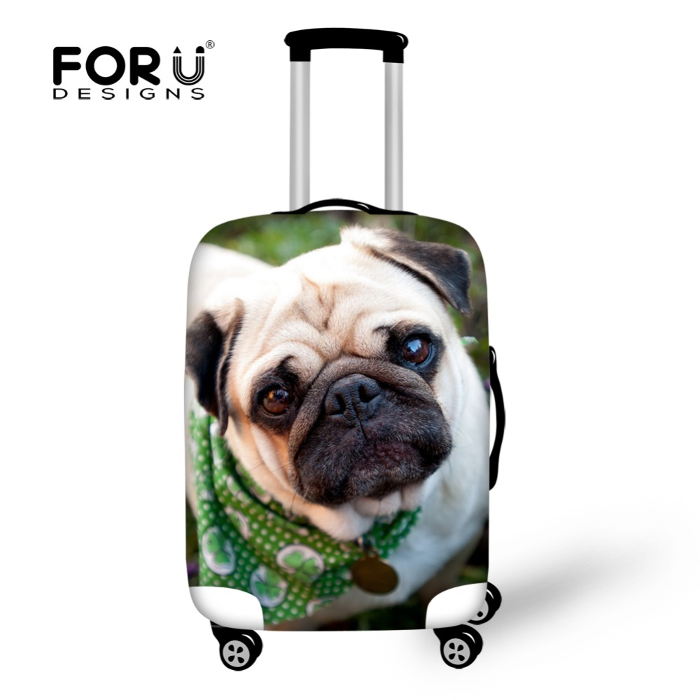 FORUDESIGNS Elastic Travel Luggage Cover Cute Husky Dog Print 18-30 Inch Travel Case Dust Cover Elastic Dustproof Suitcase Cover
