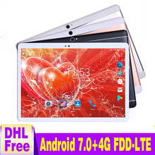 """2018 Free shipping 10 inch Tablet PC Octa Core Android 7.0 4GB RAM 64GB ROM 4G LTE 8.0MP Tablet PC 10"""" Bluetooth IPS GPS WiFi"""