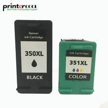 einkshop 350xl 351xl Refilled Ink Cartridge Replacement for HP 350 XL 351 Photosmart C4200 C4480 C4280 Officejet J5780 J5730