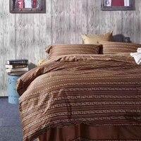 הנחה מיוחדת באיכות גבוהה מצרים כותנה בסגנון אמריקאי הדפסת סט מצעים ציפות גיליון מיטת השמיכה כיסוי סט מלכת גודל