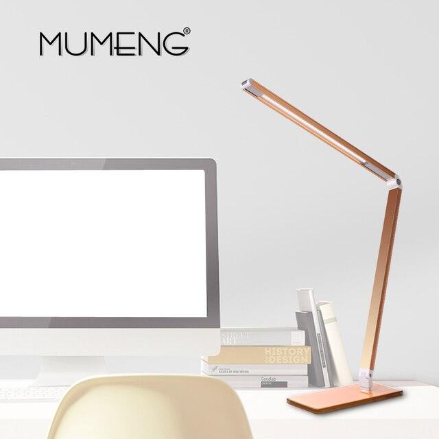 Mumeng LED Desk Lamp 7W Dimmable Table Light Folding Portable Office Laptop  Fixture Eye Care