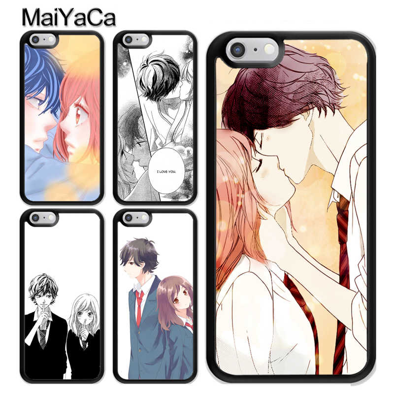 Ao Haru Ride Kiss Case For iPhone 12 Mini 11 Pro MAX X XR XS MAX SE 2020 6S 7 8 Plus 5s Cover