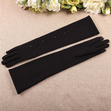 Woman Gloves Autumn Winter New Medium And Long Section Spun Velvet Finger Touchscreen Sleeve Warmers BL024N1