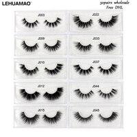 LEHUAMAO 3D Mink Lashes 50Pairs Eyelashes Luxury handmade Cross thick Eye Lashes 100% Cruelty free False Eyelashes Free DHL
