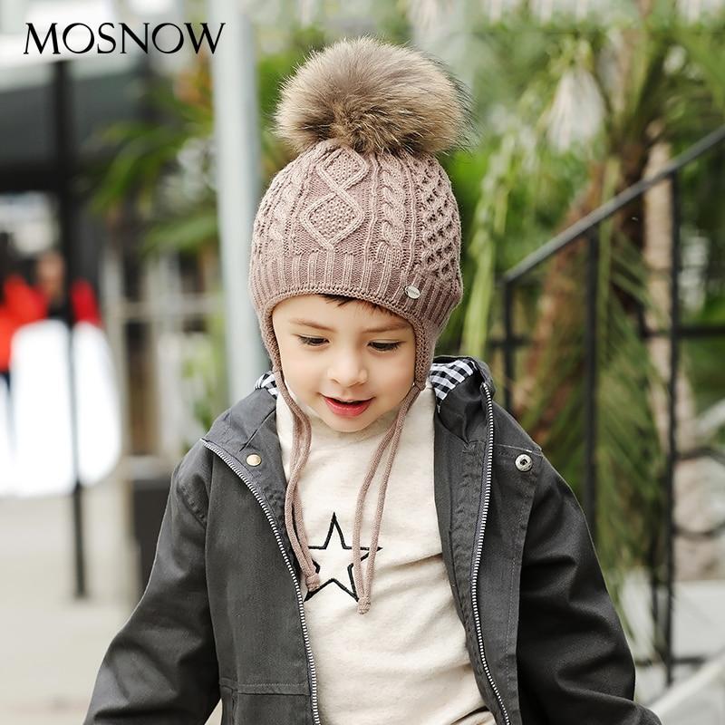 Cotton Hats Beanies Fur Pompom Brand Caps Skullies Warm Girl Children New-Fashion Hot