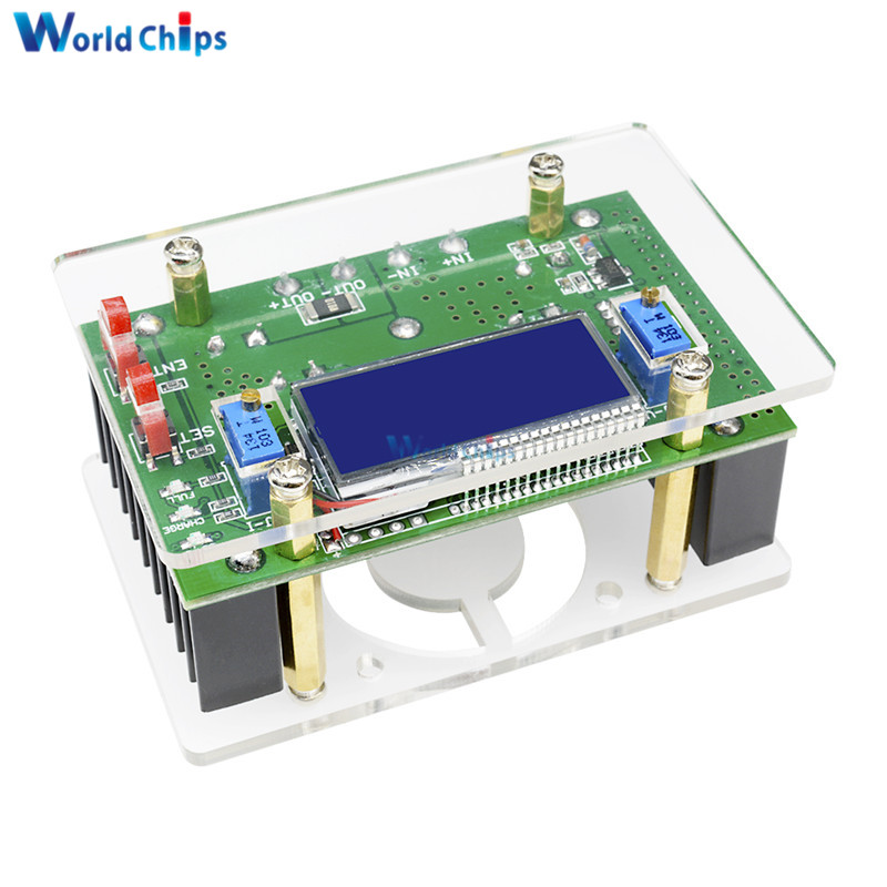 10A DC-DC Adjustable CC CV Step Down Power Supply Module LCD Dual Display + Case DC-DC Boost Converter10A DC-DC Adjustable CC CV Step Down Power Supply Module LCD Dual Display + Case DC-DC Boost Converter