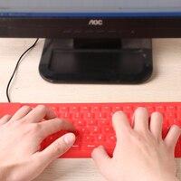 85 Keys Soft Silicone Keyboard Portable USB Mini Flexible Silicone Soft Keyboard Foldable For Laptop Notebook -