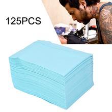 125 גיליונות חד פעמי קעקוע קעקוע מחצלת מגבת עמיד למים שכבה כפולה נייר קעקוע אביזרי יופי גוף אספקת אמנות