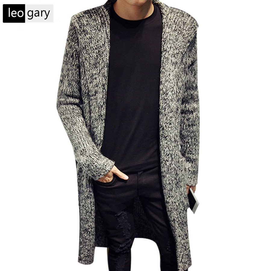 2016 Autumn Winter Mens Long Sweater Cardigans New Fashion ...