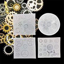 DIY Punk Style Resin Gear Silicone Mold Handmade Cool Decorations Machine Toothed Wheel Mould