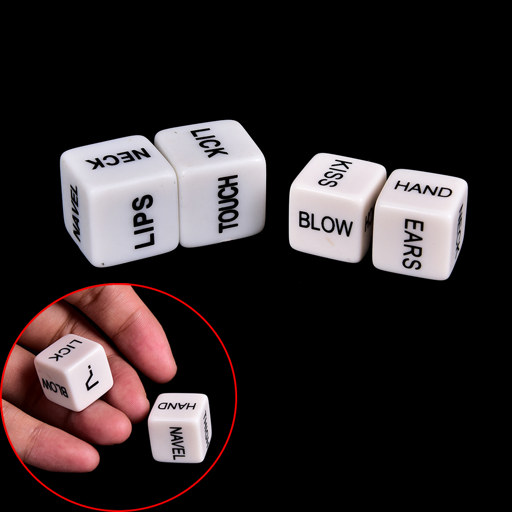 2Pcs/Pair Erotic Dice Romance Love Humour Adult Games Glow In The Dark Party Game Instructions Sex Dice Toys for Couples