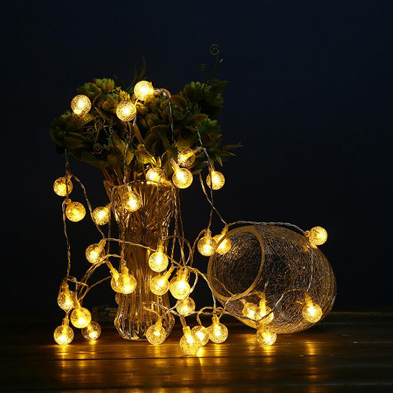 LED Solar Lamp Fairy String Lights 30LED Outdoor bubble Blossom Decorative Garden Patio Christmas Trees Wedding Party Waterproof solar fairy string lamps christmas decorative 7m 50leds flower blossom lights waterproof garden christmas outdoor led light
