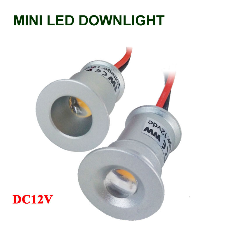 Small <font><b>led</b></font> <font><b>downlight</b></font> plafon <font><b>LED</b></font> Ceiling Spot Light Lamp Mini Recessed <font><b>LED</b></font> <font><b>Downlight</b></font> Cabinet Lighting 1W 3V Pot Light Warm White image
