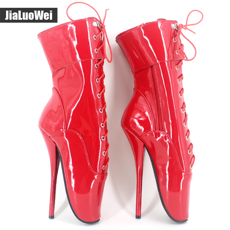 Women Fashion pointed toe 18cm/7 high heel ballet Mid-Calf boots Pu leather sexy Fetish princess party special occasion boots 2018 new arrival fashion winter shoe genuine leather pointed toe high heel handmade party runway zipper women mid calf boots l11