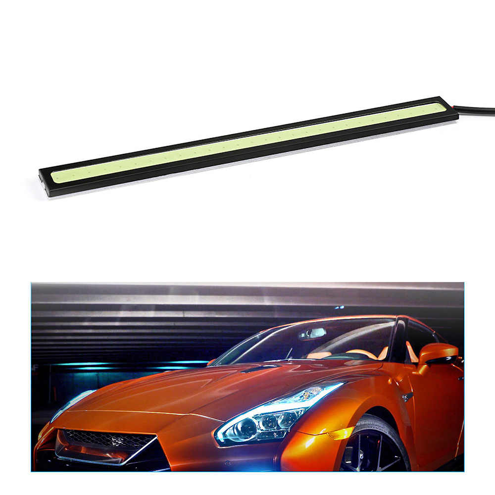 1 Piece DRL LED Car Daytime Running Lights 6 LEDs DC 12V Auto Fog Light Driving Lamps Waterproof led Light Strips for car auto