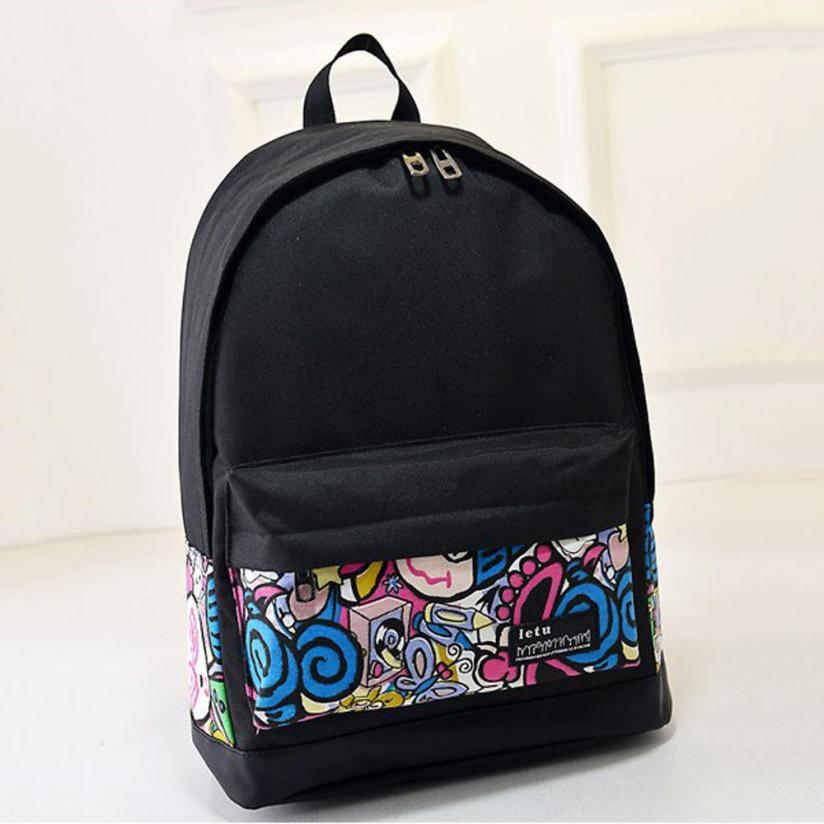 New Campus Women Girls Backpack Travel Bag Young Canvas Men Backpack Brand Fashion School Bags Printing Bags sac a dos