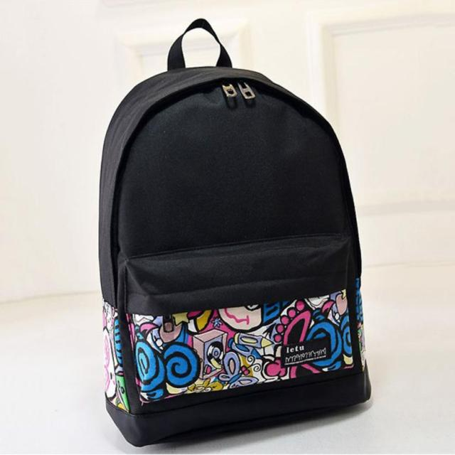 b2fe830ced New Campus Women Girls Backpack Travel Bag Young Canvas Men Backpack Brand  Fashion School Bags Printing