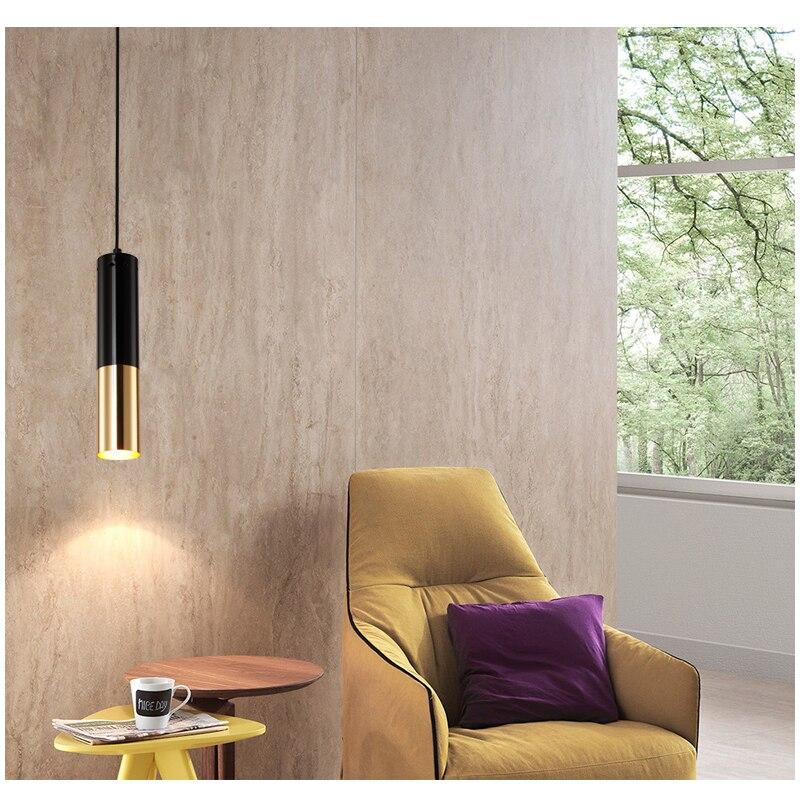 Modern Pendant Lights GU10 LED Lamp Single Dining light Bar lamps Pendant Lamp Lighting For living Room D60mm Aluminum Tube lamp