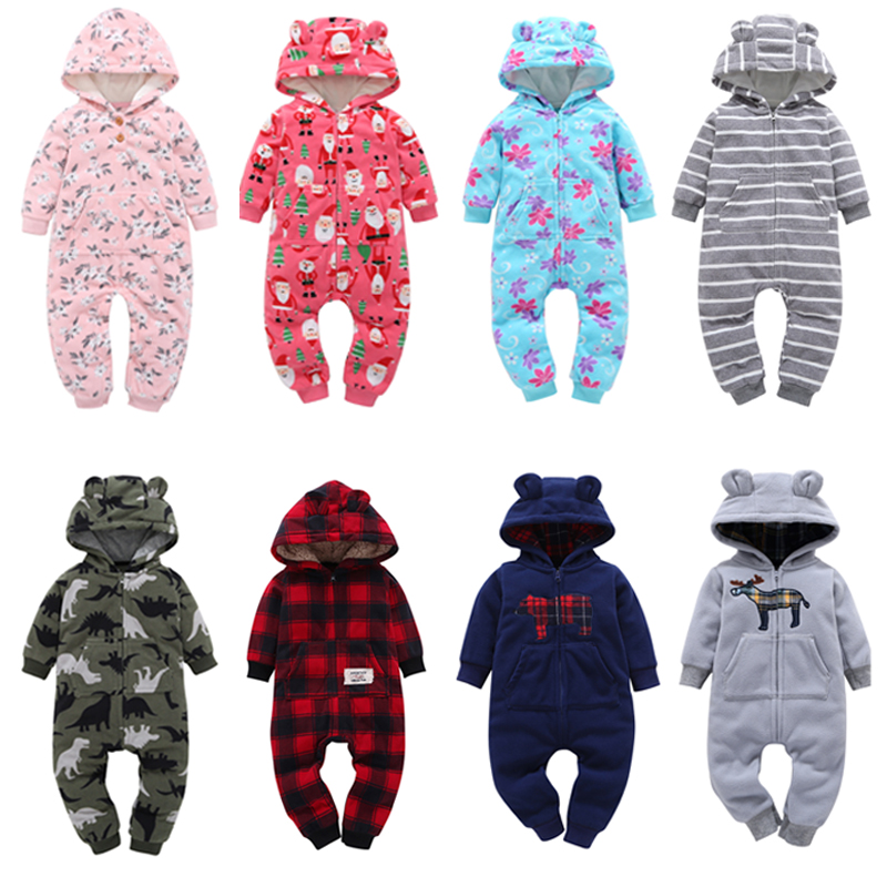 Winter Baby Romper For Boy Girl Clothes Newborn Bebes Pajamas Jumpsuit Warm Infant Climbing Clothing Roupas De Recem Nascido