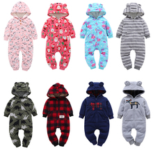 Winter Baby Romper For Boy Girl Clothes Newborn Bebes Pajamas Jumpsuit Warm Infant Climbing Clothing Roupas De Recem Nascido цены онлайн