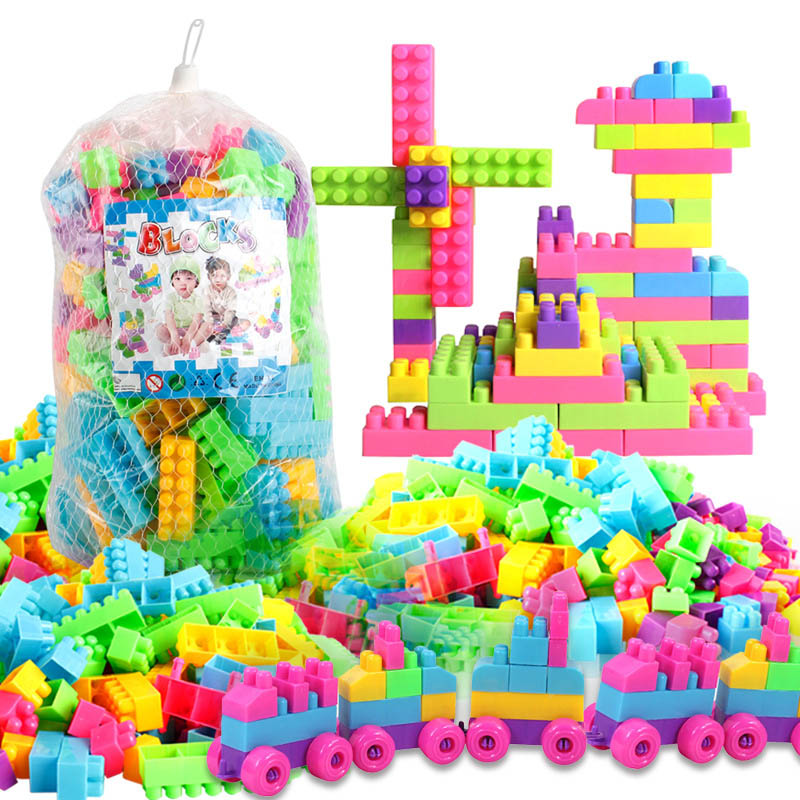 80pcs/250pcs DIY Educational Assemble Building Blocks Figures Model Bricks For Kids Toys Gifts @ NSV775