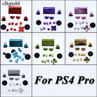 Cltgxdd Plated Chrome Thumbsticks Dpad R1/L1/R2/L2 Buttons For Sony PS4 Pro JDS 040 JDM 040 Wireless Controller