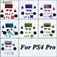 cltgxdd Plated Chrome Dpad R1/L1/R2/L2 Buttons For Sony PS4 Pro JDS-040 JDM 040 Wireless Controller