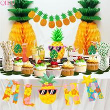 Hawaiian Party Decorations Flamingo Decoration Tropical Birthday party Decor Wedding Pinapple Baby Shower