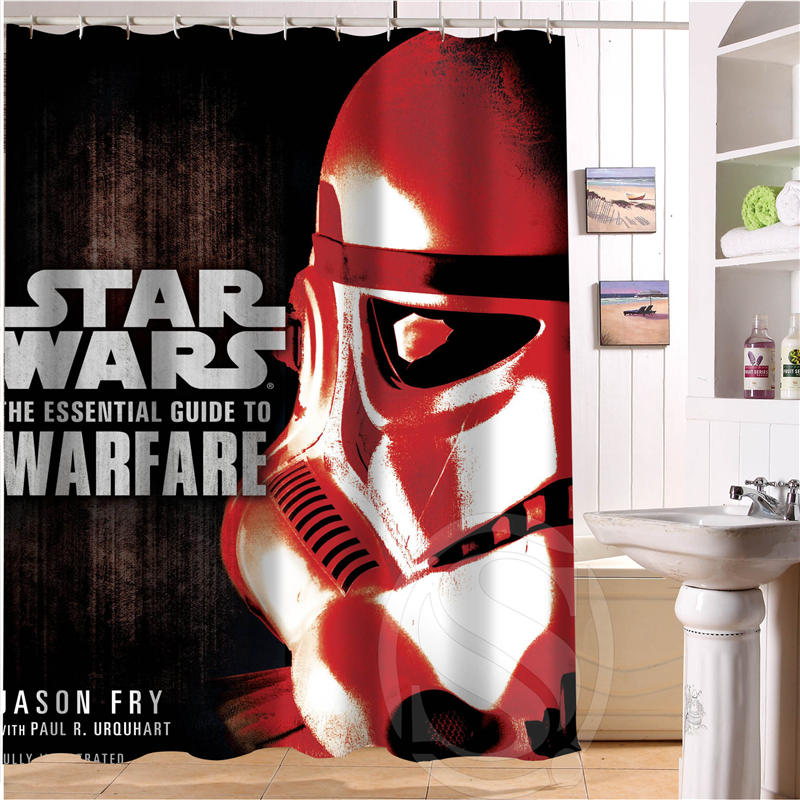 Star Wars Retro Cartoon Custom Shower Curtain Fabric Bath Waterproof MORE SIZE SQ0515 8 In Curtains From Home Garden On Aliexpress