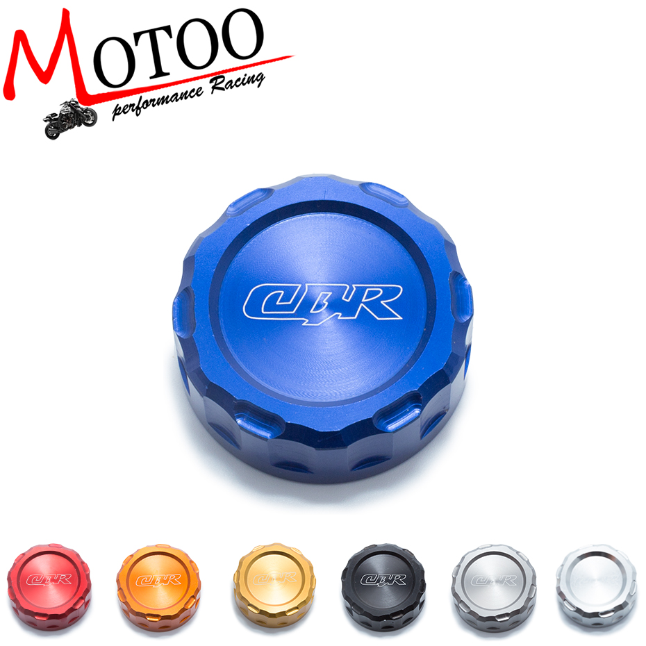 Motoo -FREE SHIPPING Hot sale For HONDA CBR600RR CBR1000RR Motorcycle Accessories Rear Brake Fluid Reservoir Cap Oil Cup universal motorcycle brake fluid reservoir clutch tank oil fluid cup for mt 09 grips yamaha fz1 kawasaki z1000 honda steed bone