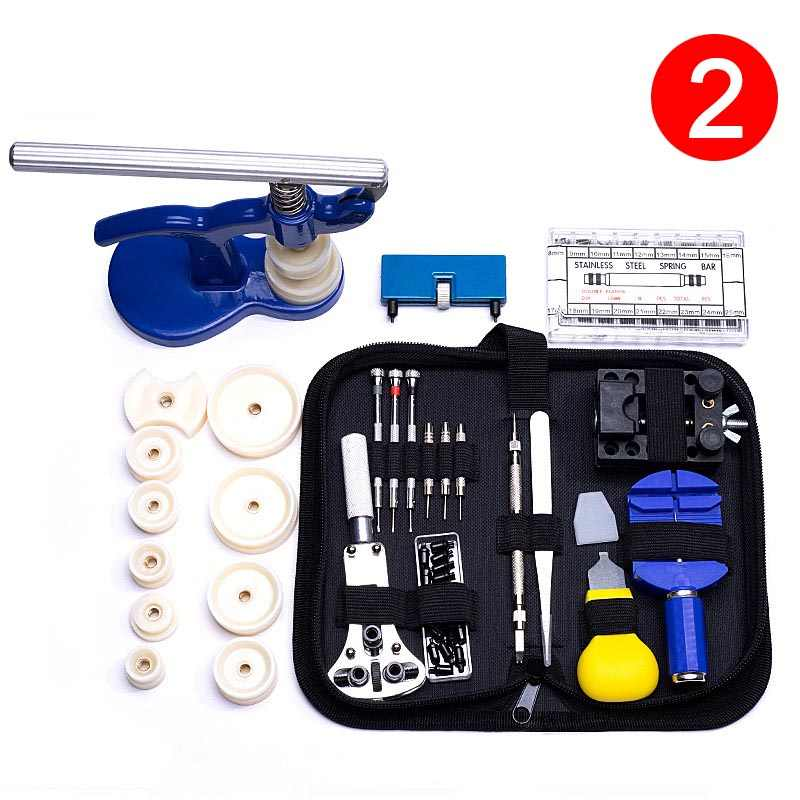 147 / 16 Pcs Watch Repair Tool Kit Set Watch Case Opener Link Spring Bar Remover Screwdriver Watchmaker Device AI88