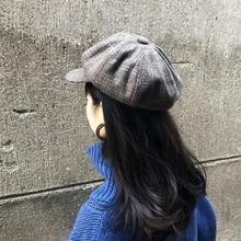 Spring new beret womens Japanese style British College octagonal cap windproof short tongue literary Bucket Hats