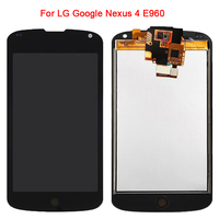 Replacement LCD Display Touch Screen Panel Digitizer Glass Sensor Full Assembly For LG Optimus Google Nexus 4 E960