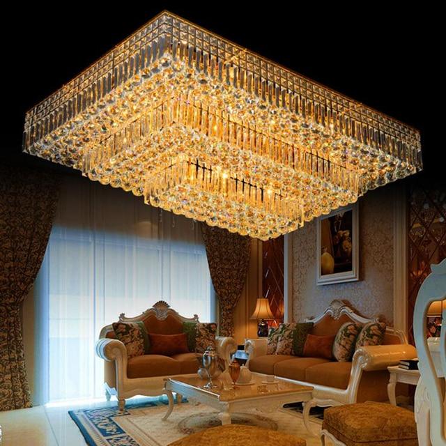 Einfache moderne wohnzimmer leuchtet rechteckige kristalllampe led ...