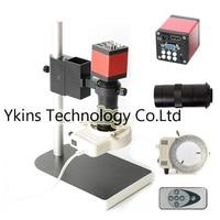 HD 13MP 720P HDMI Industrial Digital Video Microscope Camera + 100X C Mounting Lens + 56 LED Ring Light + Bracket for PCB Repair