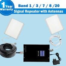 2G 3G 4G כפול ומכופל להקת Lintratek GSM 800/880/1800/2100/2600 מגבר 5 בנד אירופה נייד טלפון אנטנת 3G אותות בוסטרים ערכת 42