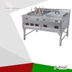 PKJG GH1076 gazu konwekcyjne kuchenka do gotowania makaronu i Bain Marie/9 patelni  dla handlowych kuchni w Roboty kuchenne od AGD na