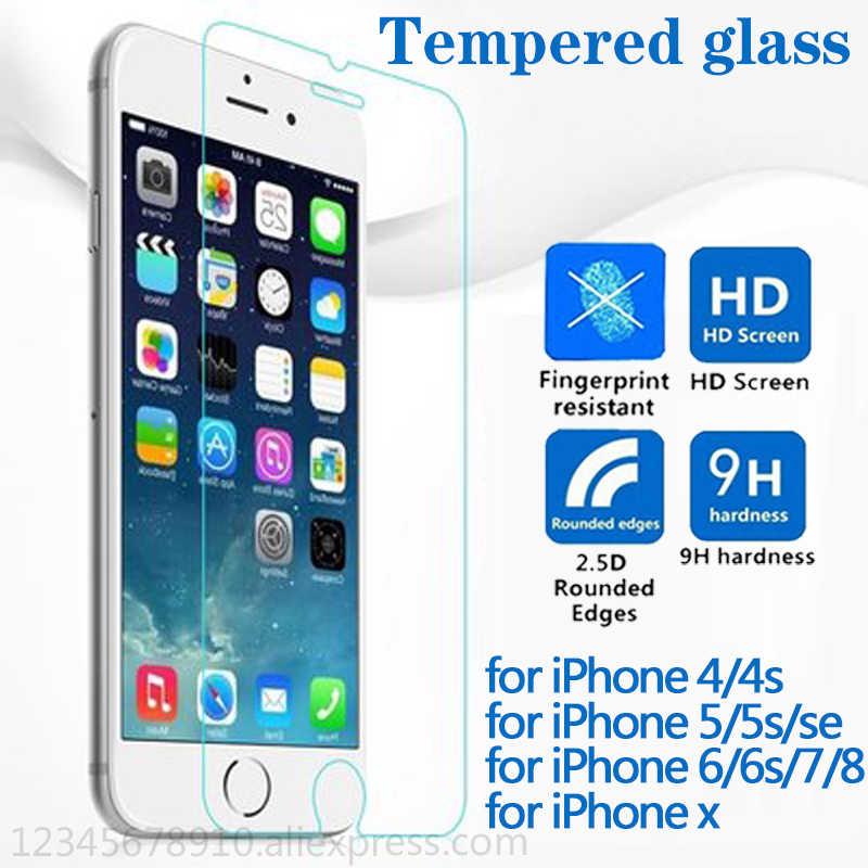 33a2b1e11b5 Vidrio en el para iphone 7 6 5s protectora de vidrio para iphone 7 8x6 s