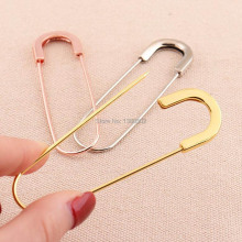 20pcs/lot  78mm large size rose gold /gold /silver color metal Safety Pins brooch pins