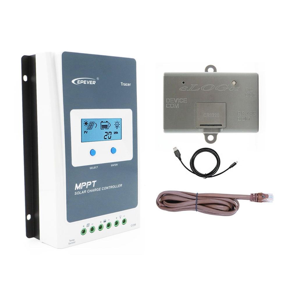 Tracer2210AN 20A MPPT régulateur de Charge solaire chargeur batterie 2210AN eLOG01 fonction d'enregistrement des données de travail en temps réel