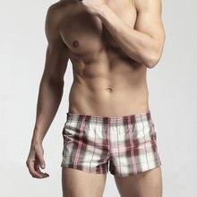 men's High Quality 100% cotton underwear fashion strips sleep Shorts boxers men home Loose pants Summer Leisur plus size